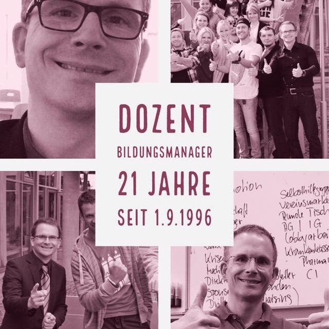 21 Jahre im Geschäft . Dozent und Bildungsmanager